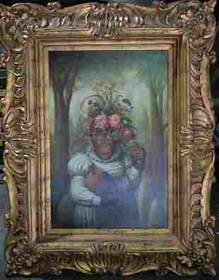 "Huge Original ""Monkey in a White Dress"" 42 x 64"