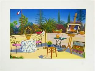 """Fanch Ledan """"Atelier de Cezanne"""" Signed!"""