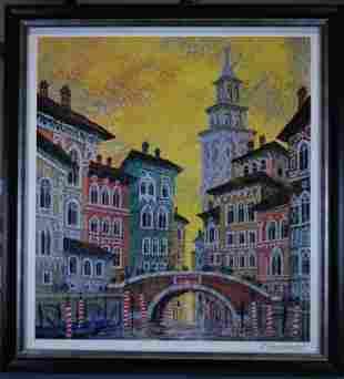 "Anatole Krasnyansky ""Venice Yellow Sunset"""