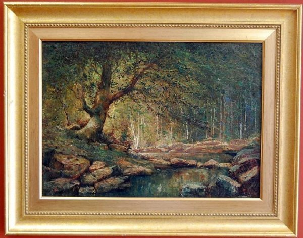 70: ANTHONY THEIME LANDSCAPE OIL ON CANVAS PAINTING