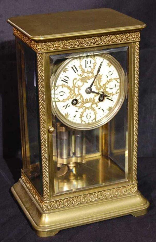7: J. E. CALDWELL PHILADELPHIA BRASS BRACKET CLOCK