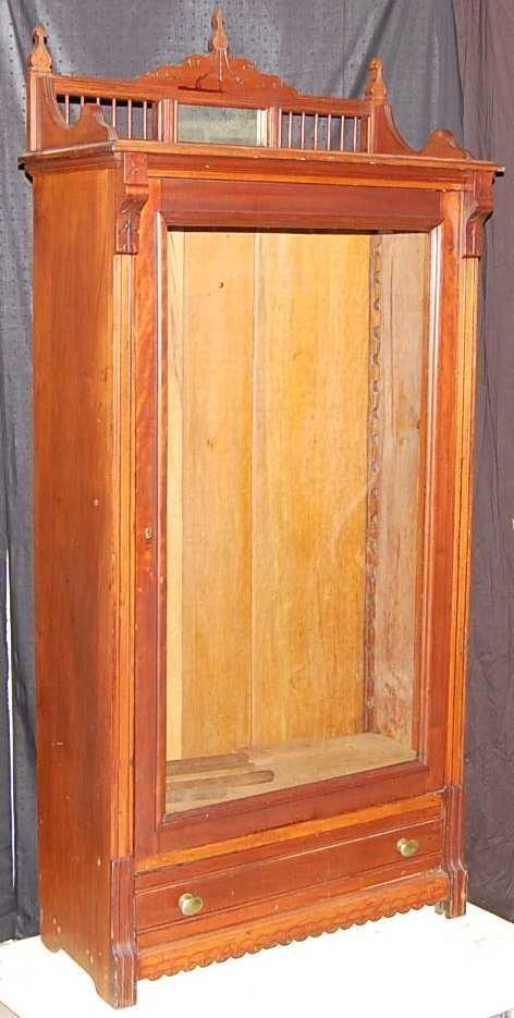 18: AMERICAN CHERRY SINGLE DOOR BOOKCASE
