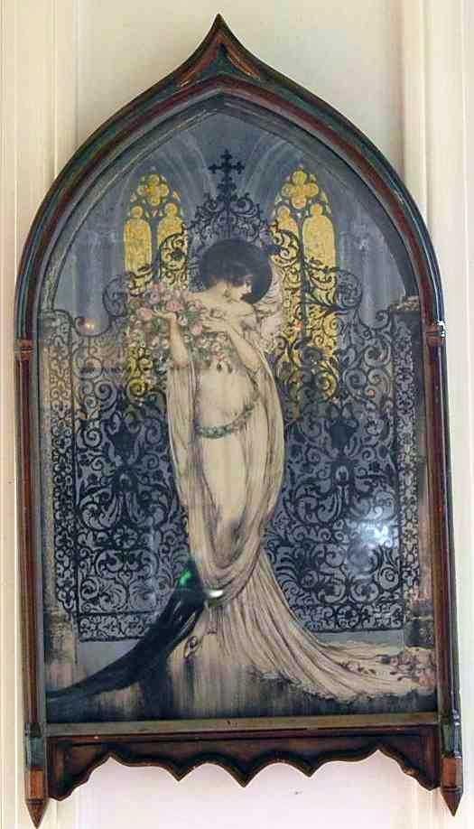 5: LOUIS ICART GOTHIC LADY LITHO MARKED LA TOSCA