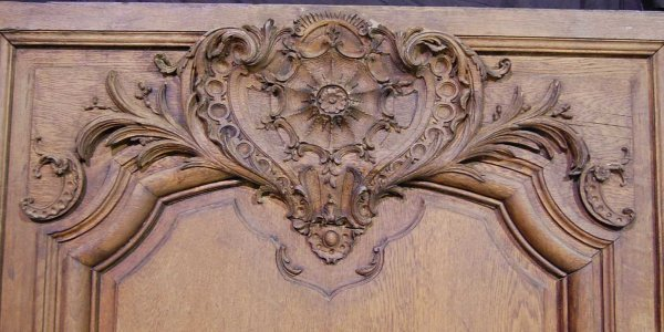 108: SET OF THREE FRENCH CARVED OAK WALL PANELS - 2