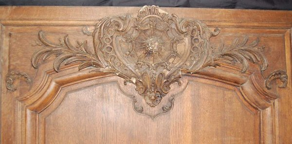 108: SET OF THREE FRENCH CARVED OAK WALL PANELS - 3