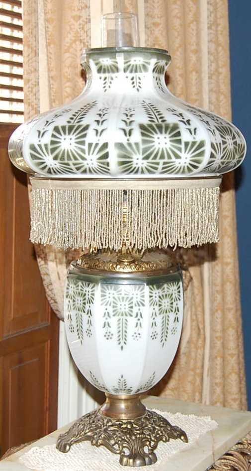 21: RARE PITTSBURG OIL LAMP