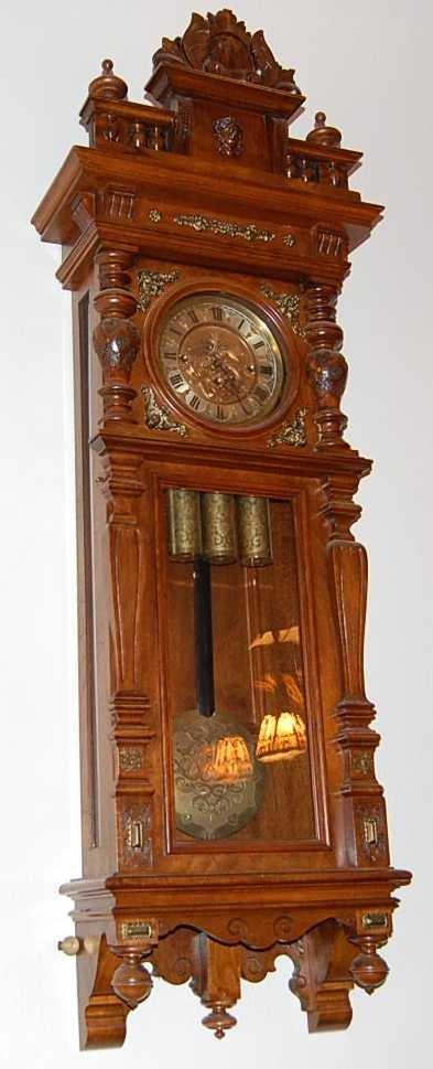 47: GUSTAV BECKER GRAND SONNE WALL CLOCK