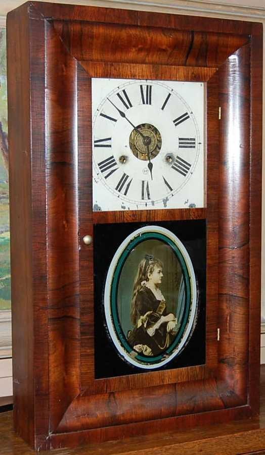 11: SETH THOMAS ROSEWOOD OGEE MANTLE CLOCK