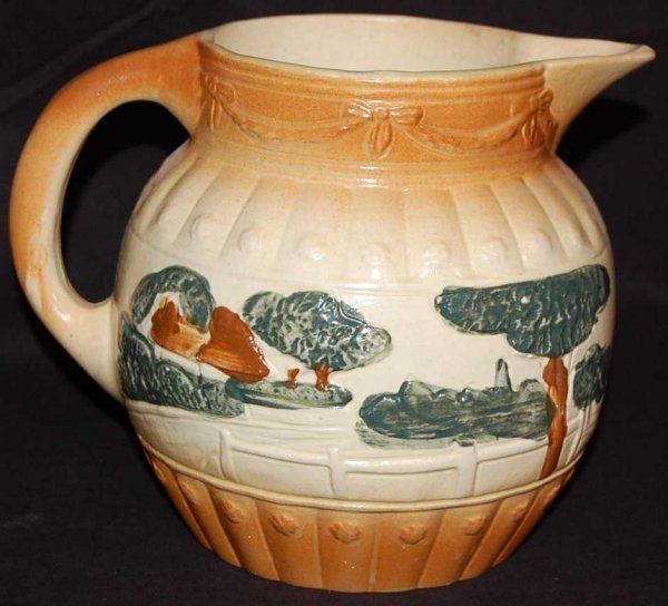 2: ROSEVILLE EARLY LANDSCAPE PITCHER