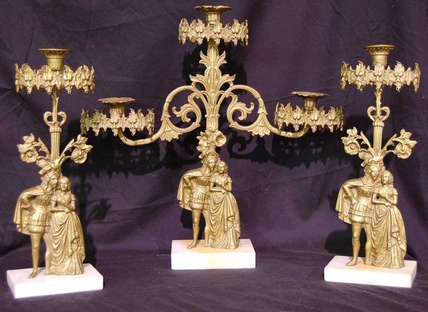 7: THREE PIECE FIGURAL GERONDOLE SET