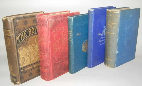 1: GROUP OF 5 CIVIL WAR BOOKS FROM THE 1800'S