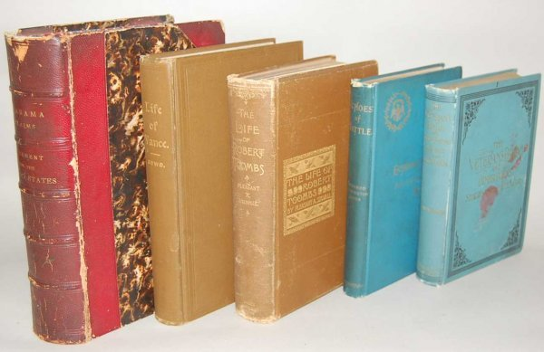 3: GROUP OF 5 CIVIL WAR BOOKS FROM THE 1800'S