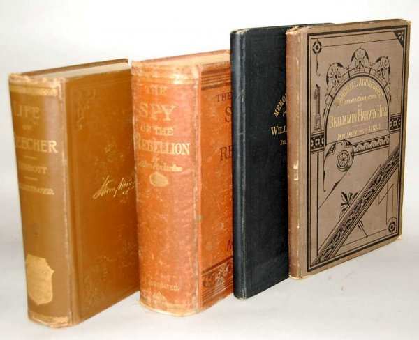 7: GROUP OF 4 CIVIL WAR BOOKS FROM THE 1800'S