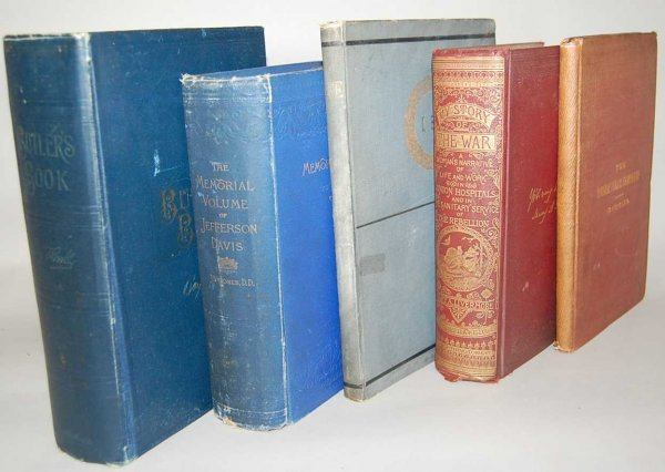 9: GROUP OF 5 CIVIL WAR BOOKS FROM THE 1800'S