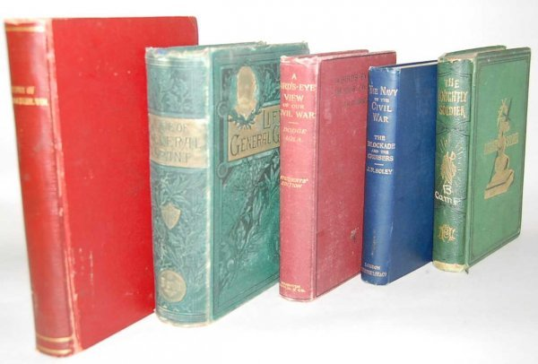 11: GROUP OF 5 CIVIL WAR BOOKS FROM THE 1800'S