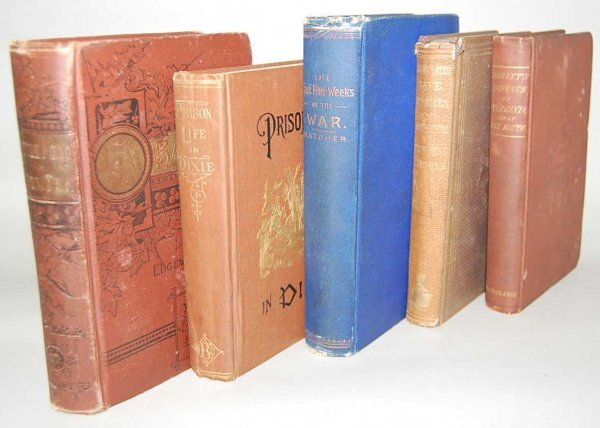13: GROUP OF 5 CIVIL WAR BOOKS FROM THE 1800'S