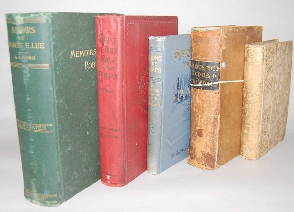 15: GROUP OF 5 CIVIL WAR BOOKS FROM THE 1800'S