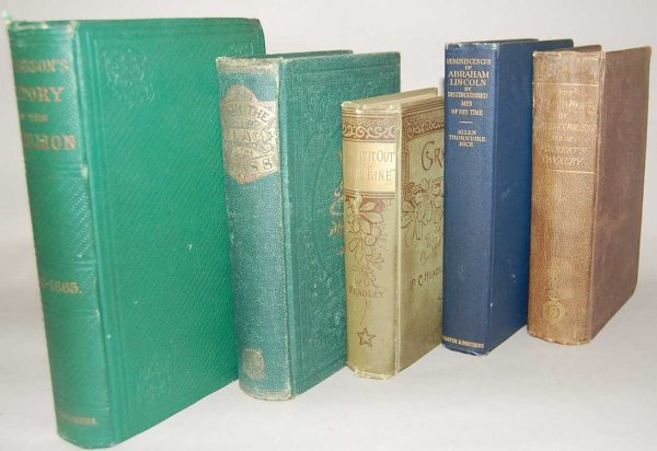 17: GROUP OF 5 CIVIL WAR BOOKS FROM THE 1800'S