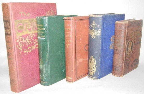 19: GROUP OF 5 CIVIL WAR BOOKS FROM THE 1800'S