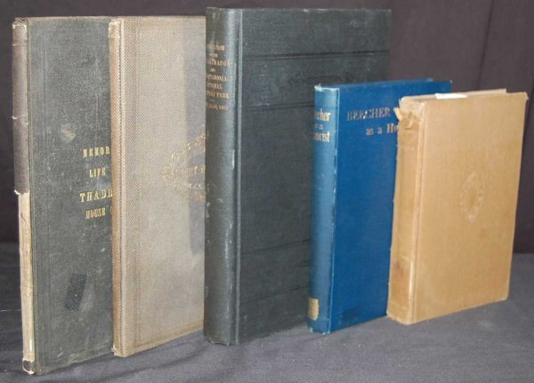 23: GROUP OF 5 CIVIL WAR BOOKS FROM THE 1800'S