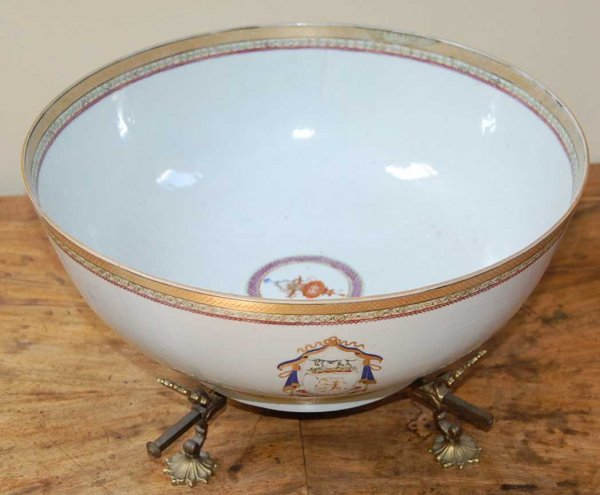 3: CHINESE EXPORT PORCELAIN PUNCH BOWL