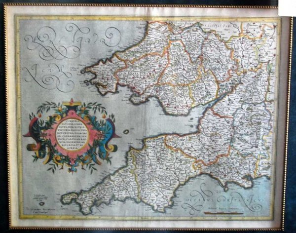 13: GERARD MERCATOR MAP OF DEVON,CORNWALL, SOMERSET