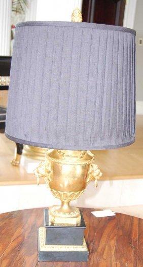 1: Bronze trophy urn lamp