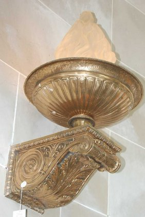 3: Pair of French Empire bronze wall sconces