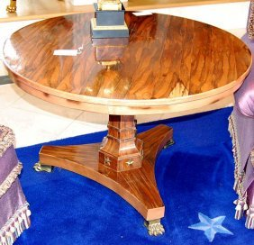 4: French Empire rosewood center table