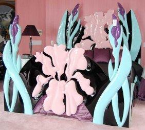 8: Art Nouveau style Jane Goco Iris bed