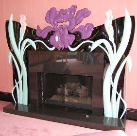 10: Art Nouveau style Jane Goco fireplace mantle
