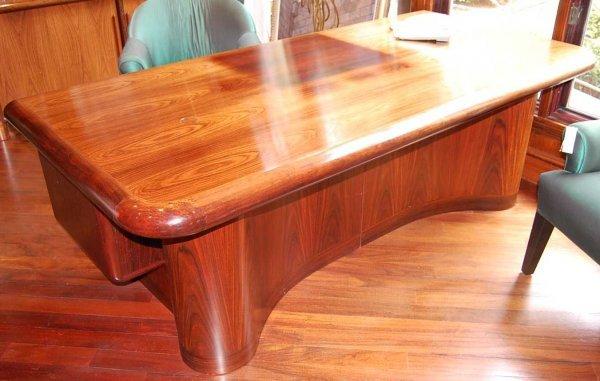 16: Handsome Rosewood executive desk