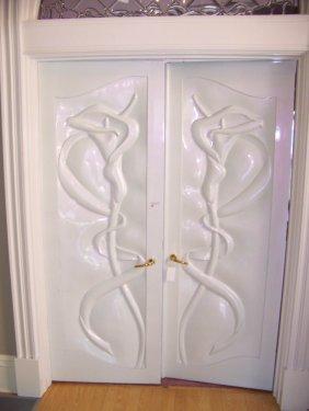 12: Pair of Art Nouveau Jane Goco Doors