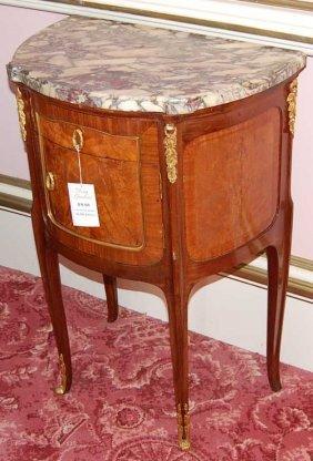 23: Pair of Louis XVI Marble Top Chevets