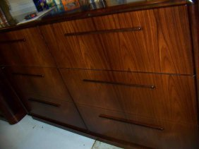 20: Pair of Rosewood Horizontal File Cabinets