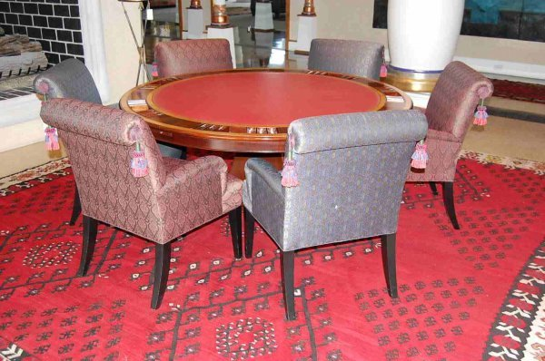 120: Rosewood Regency Style Poker/Game Table