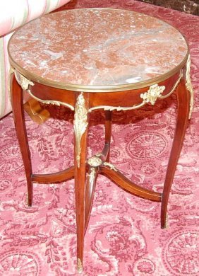9: French Marble Top Salon Table