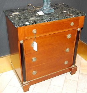 11: French Empire Style Marble top Chest