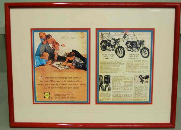 197: 1958 Sears Motorcycle Ad in Display