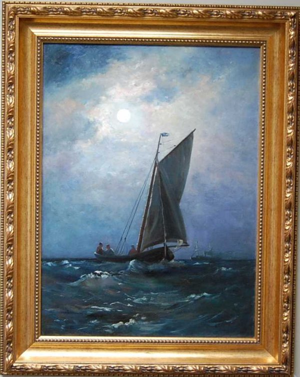 15: Carl Frederick Sorenson Oil on Canvas Painting