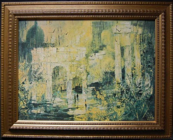 15: Jack Laycox 'Eternal City' OIl on Canvas Painting