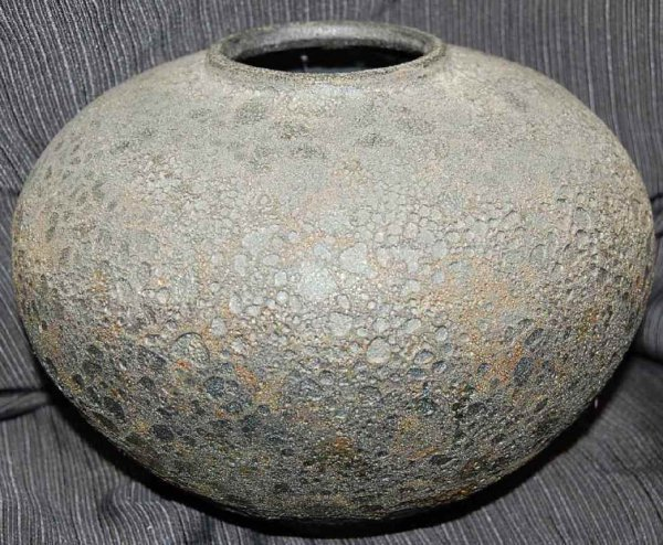 24: Jim Gremel Flashed Lava Ceramic Pottery