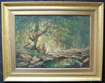 97 Anthony Thieme Oil on Canvas Landscape Painting