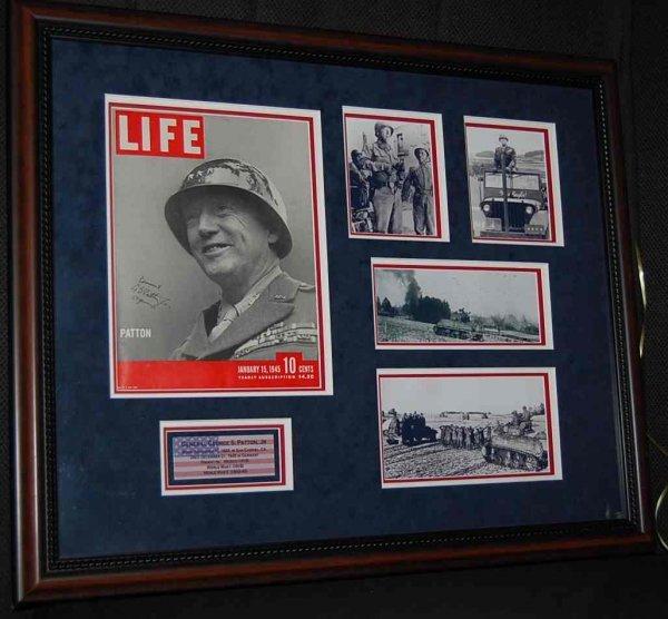 7: Signed General George Patton Jr Life Magazine