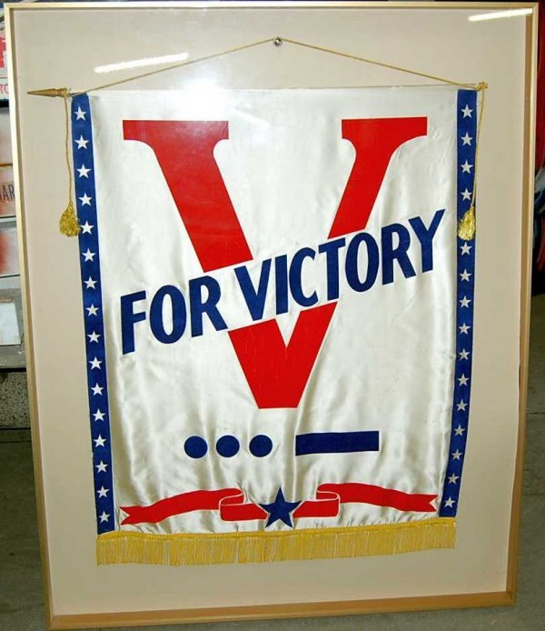 19: Victory Banner in Shadowbox Frame
