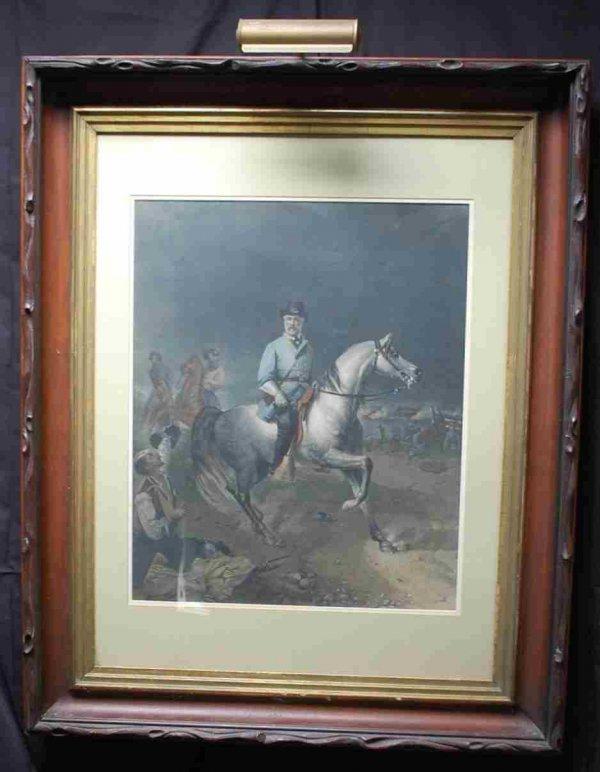 21: Robert E Lee Picture on Horseback