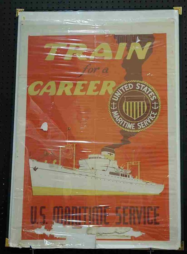 23: Train for a Career U.S. Marine Service Poster