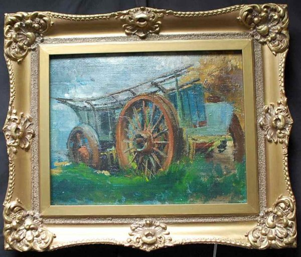 15: Lucy Elizabeth Kemp-Welch Oil on Board Painting