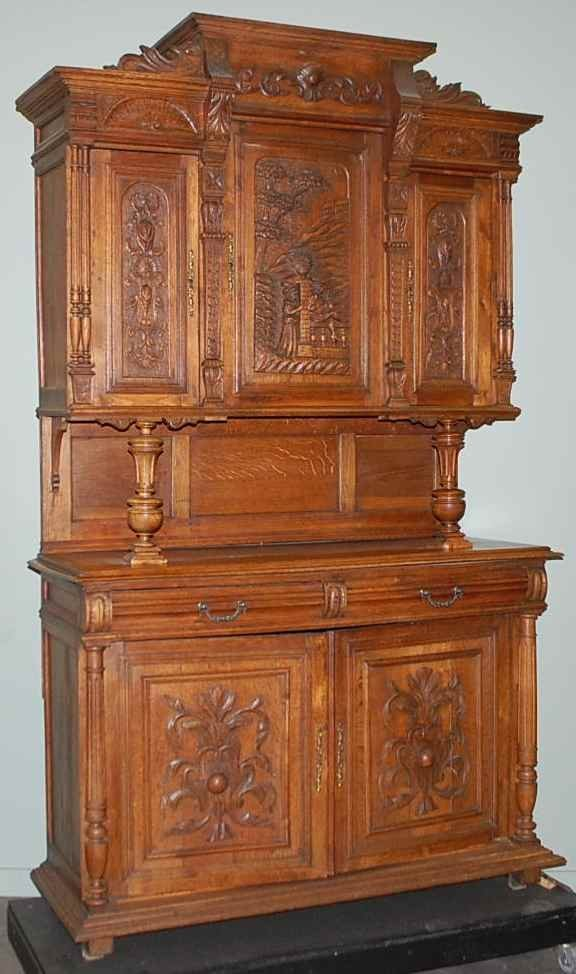 24: Henry II Romeo and Juliet Carved Court Cupboard