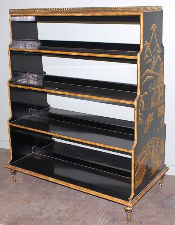 10: Maitland Smith Chinoserie Bookcase